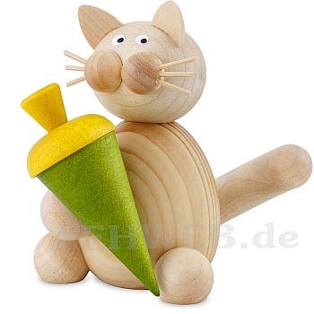 Katze Moritz mit Schultüte