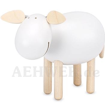 Schaf stehend lachend weiß