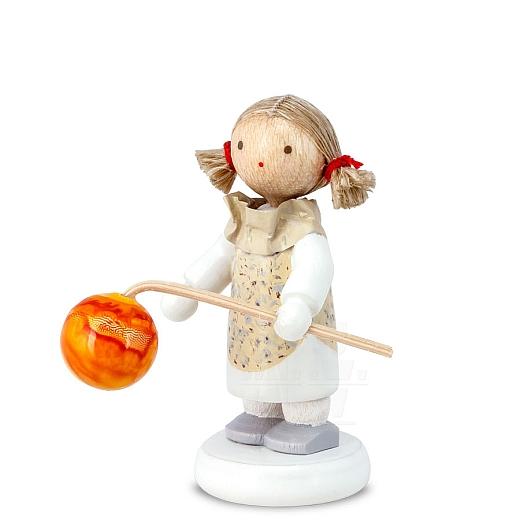 Kleines Mädchen mit Lampion