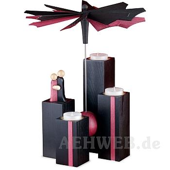 Stelen Pyramide Schwarz