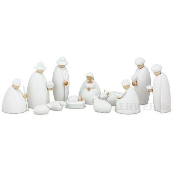 Krippenfiguren weiß 12 teilig