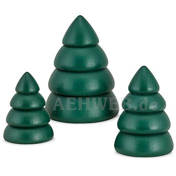 Baumset 1 Bäume grün 3-teilig