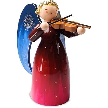 Engel reich bemalt groß mit Violine rot