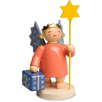 Kronenengel mit Stern und Paket