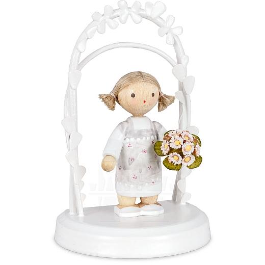 Geburtstagskind mit Gänseblümchen