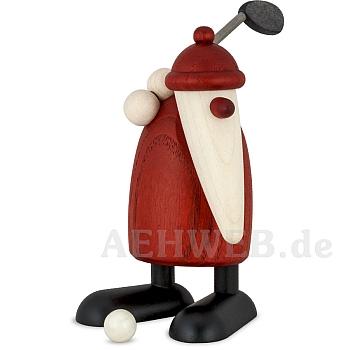 Weihnachtsmann mit Golfschläger oben
