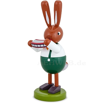 Hasen mit Mundharmonika 16 cm