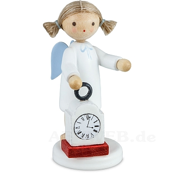 Engel mit Uhr