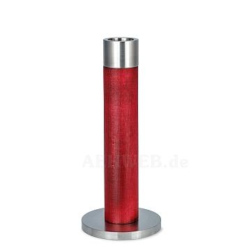 Stelenleuchter rot 17 cm