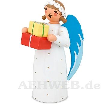 Engel mit Geschenkpaketen weiß