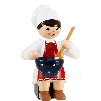 Plätzchenbäckerin rot mit Schüssel von Ulmik