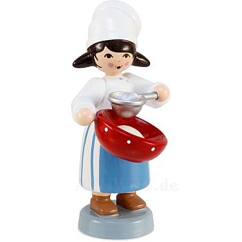 Plätzchenbäckerin blau mit Sieb von Ulmik