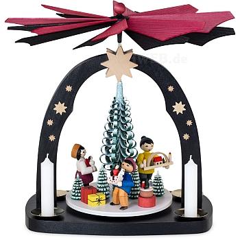 Bogenpyramide mit Kerzen Erzgebirgische Weihnacht