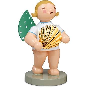 Entdecker Engel mit Muschel vergoldet Goldedition Nr. 14