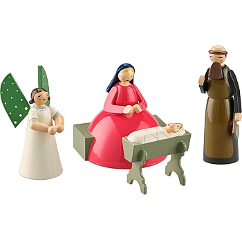 Krippenszene klein 4 Figuren von Wendt & Kühn
