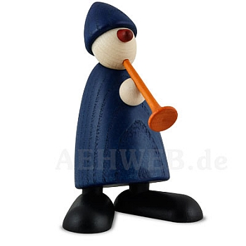 Gratulant Karlchen mit Flöte, blau