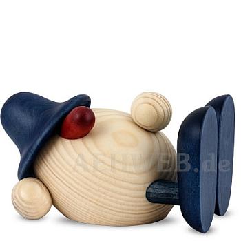 Eierkopf Oskar liegend blau