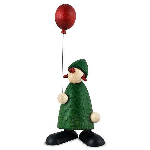 Gratulantin Lina mit rotem Luftballon