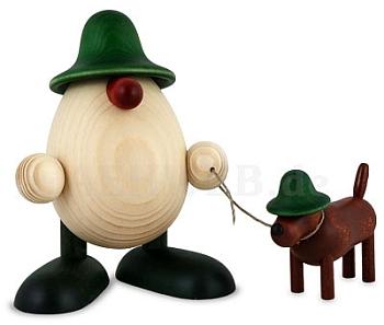 Eierkopf Rudi mit Waldi grün