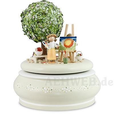 spieldose der alte apfelbaum im fr hling von flade. Black Bedroom Furniture Sets. Home Design Ideas
