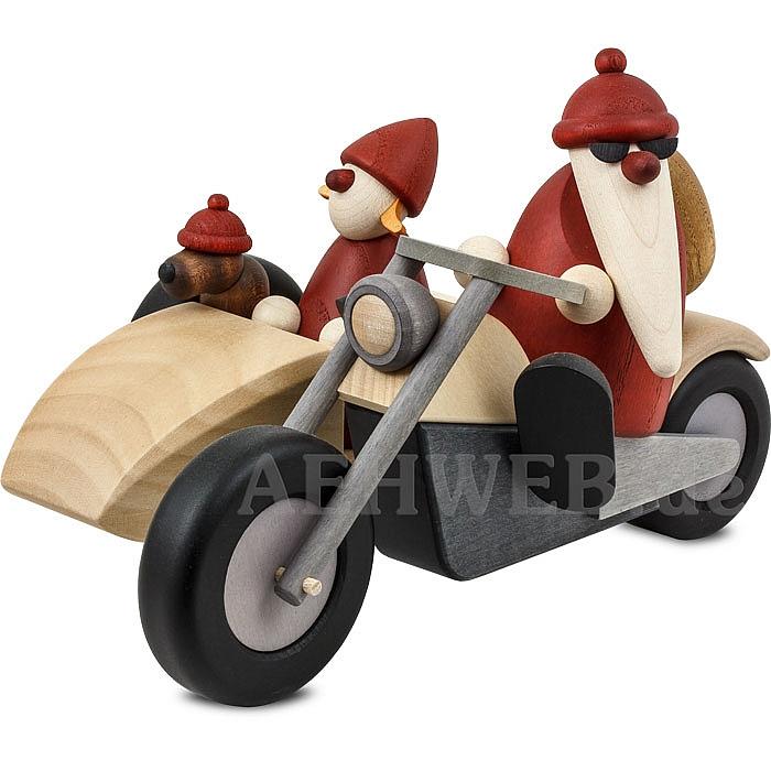 familienausfahrt auf motorrad bj rn k hler shop volkskunst aus dem erzgebirge. Black Bedroom Furniture Sets. Home Design Ideas