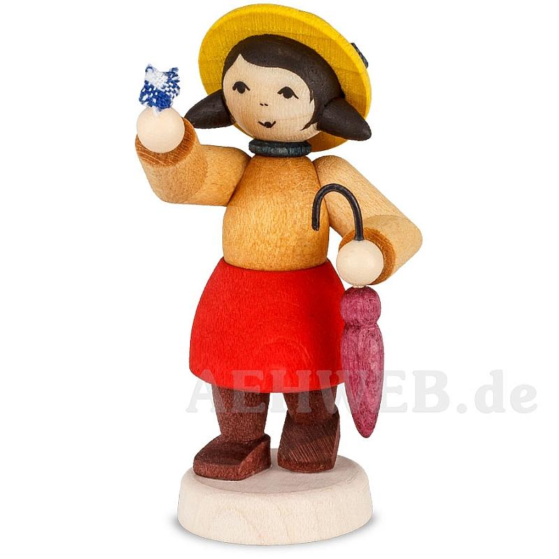 Winterkind Mädchen Mit Schirm Gebeizt Von Ulmik