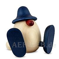 Eierkopf Erwin sitzend blau