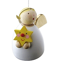 Guardian angel with star floating
