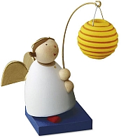 Guardian angel with Chinese round lantern