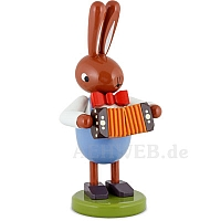 Großer Hase mit Harmonium 16 cm
