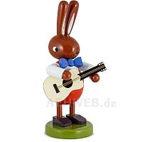 Großer Hase mit Gitarre 16 cm