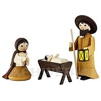 Heilige Familie gebeizt 7 cm Krippen