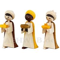 Heilige 3 Könige gebeizt 7 cm Krippen