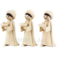Heilige 3 Könige natur 7 cm Krippen