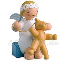 Margeritenengel sitzend mit Nadel & Teddy
