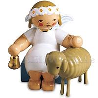 Margeritenengel sitzend mit Lamm