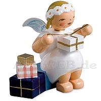 Margeritenengel sitzend mit Geschenken