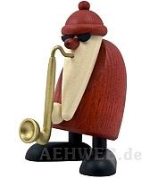 Weihnachtsmann mit Saxophon