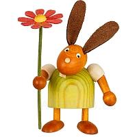 Hase mit Blume grün klein