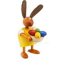 Hase mit Eiernest gelb klein