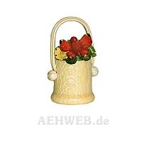 Blumenkorb mit Schmetterling rot