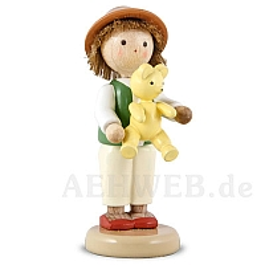 Junge mit Teddy
