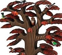 Roteiche mit Vögeln, Herbstfärbung