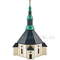 Kirche farbig lackiert