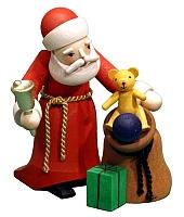 Weihnachtsmann mit Sack gebeizt