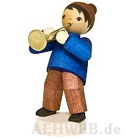 Wintermusiker mit Trompete gebeizt