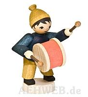 Wintermusiker mit Trommel gebeizt