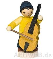 Wintermusiker mit Bass gebeizt