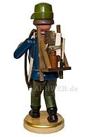 Räuchermann Waldarbeiter mit Säge