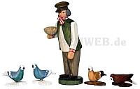 Bauer mit Tauben
